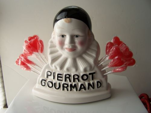 Pierrot Gourmand French Lollipop Bust Display Paris France New | eBay