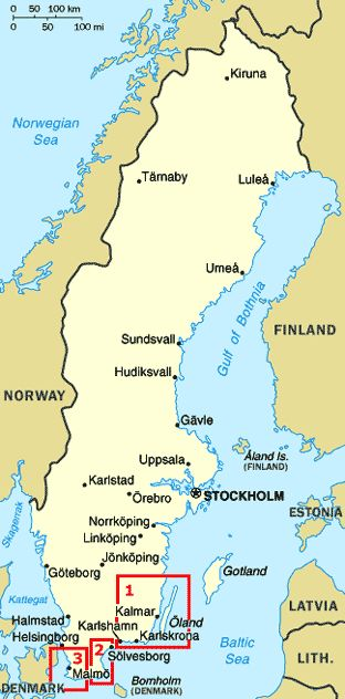 cool Oland Sweden Map