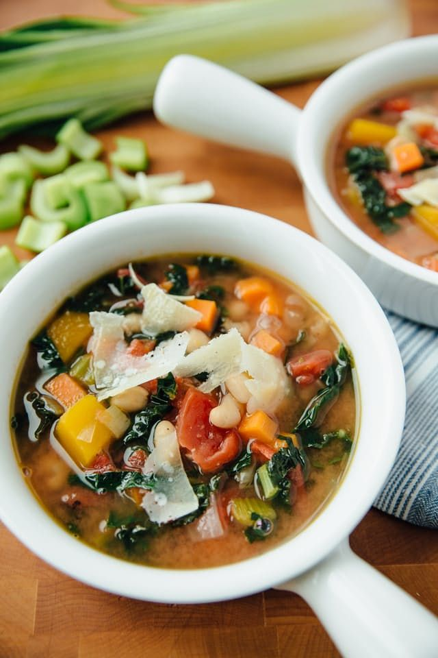 When it's time to clean out the fridge, it's minestrone day. Minestrone is a soup of scraps, and because the recipe is infinitely changeable depending on what you have, it's also a soup of the moment.