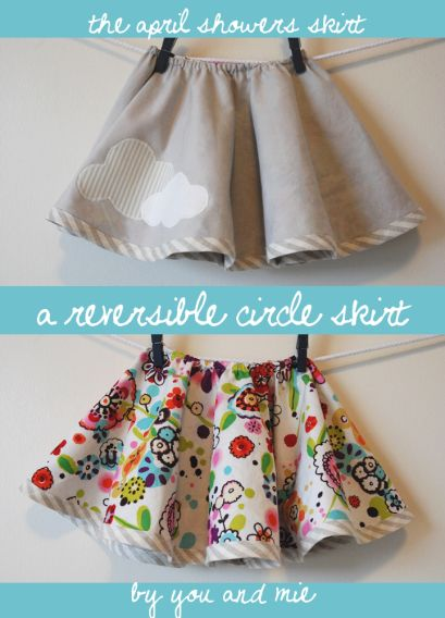 DIY Reversible Circle Skirt: tutorial on how to make a fun reversible skirt for a baby girl or toddler