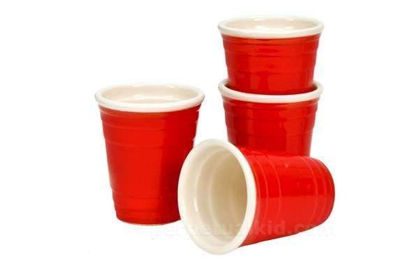 Get the Party Started with the Red Cup Shot Glasses #vodka #cocktails trendhunter.com