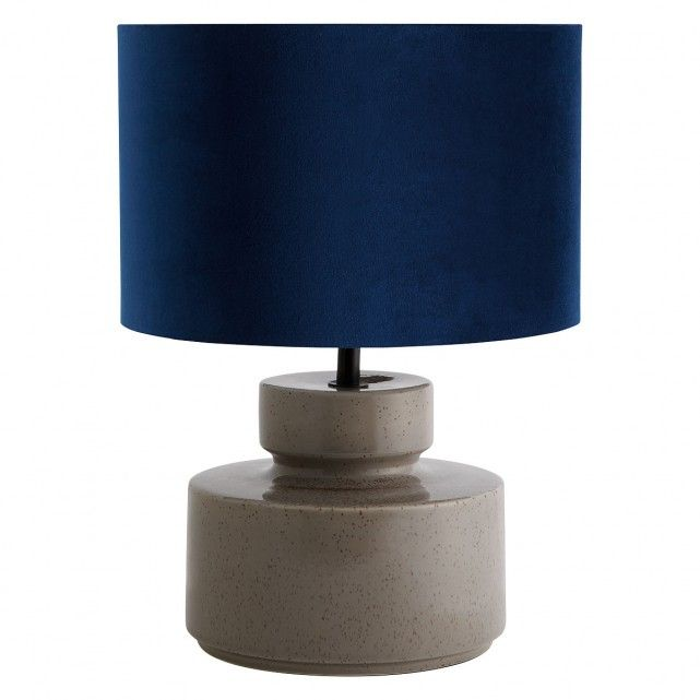 The Dascia Grey Ceramic Table Lamp Base Has A Tiered Design And