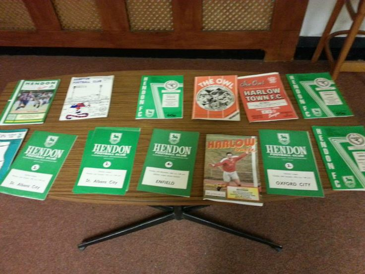 Just a few example of the fan's favourite - football programmes. They fill lofts and garages countrywide.