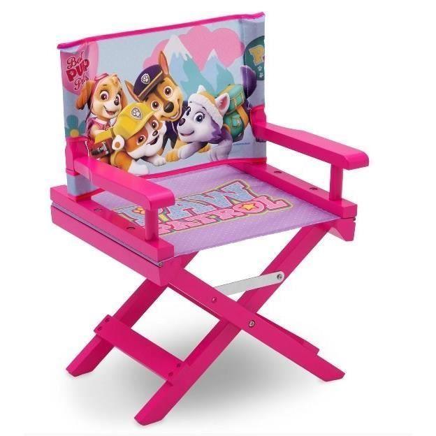 Pat Patrouille Stella Chaise De Cinema Bois Enfant Rose Et Multicolore Anniversaire Paw Patrol Paw Patrol Et Pat Patrouille