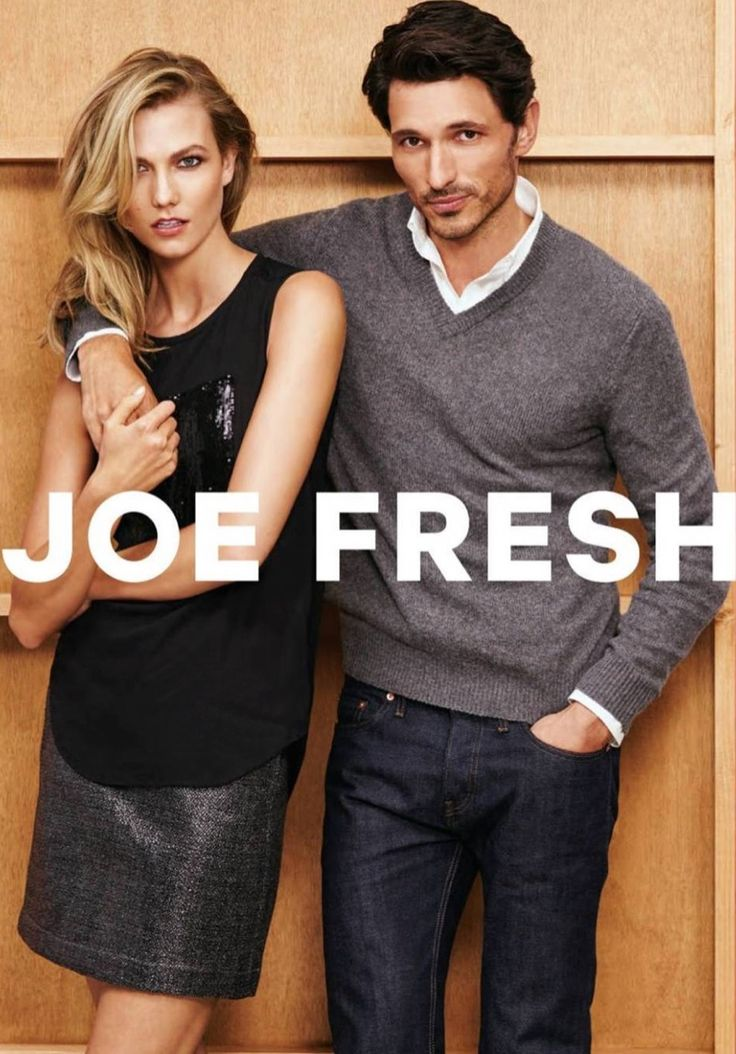 Karlie Kloss wears puffer jackets, sequin tops and cable knit sweaters Pose in Joe Fresh's holiday 2015 campaign