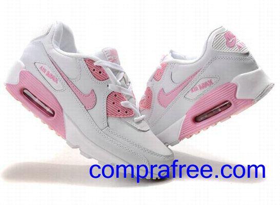 Comprar baratos mujer Nike Air Max 90 Zapatillas (color:blanco,rosa) en linea en Espana.