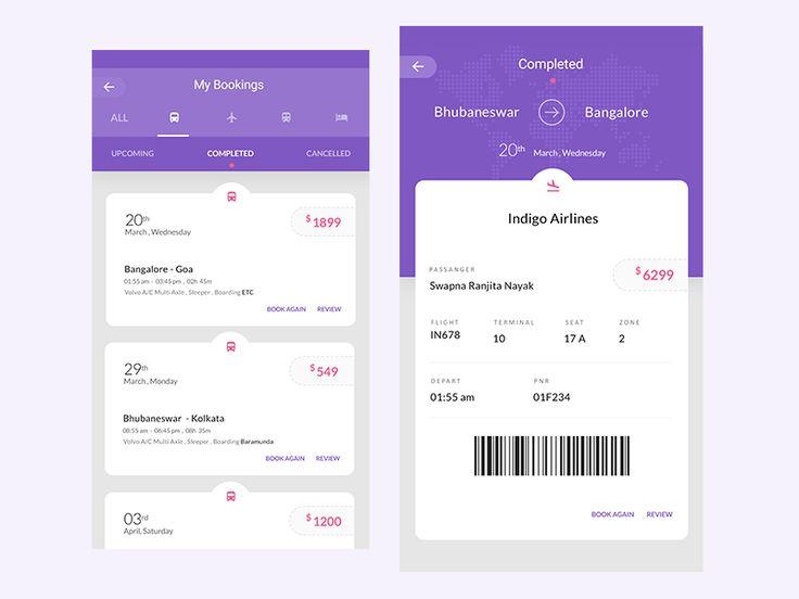 My Bookings for a Travel App by Swapna Ranjita Nayak
