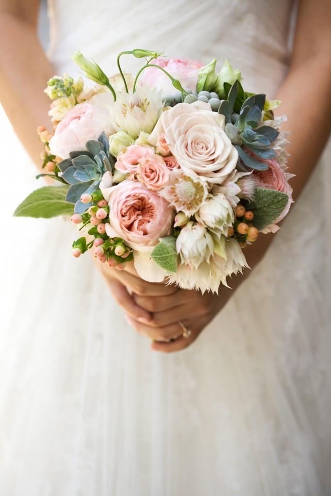 soft pinks, texture, succulents