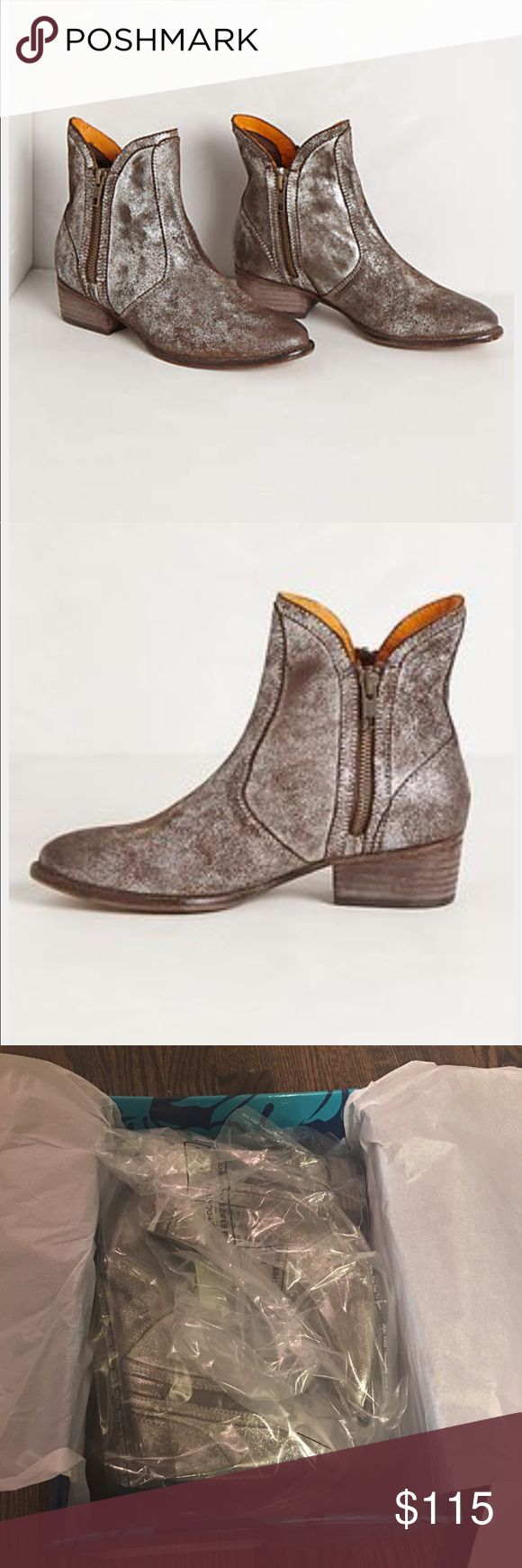 Anthro Seychelles Lucky Penny Boot Silver 6 NIB Brand new, still in original box/packaging! Anthropologie Shoes Ankle Boots & Booties