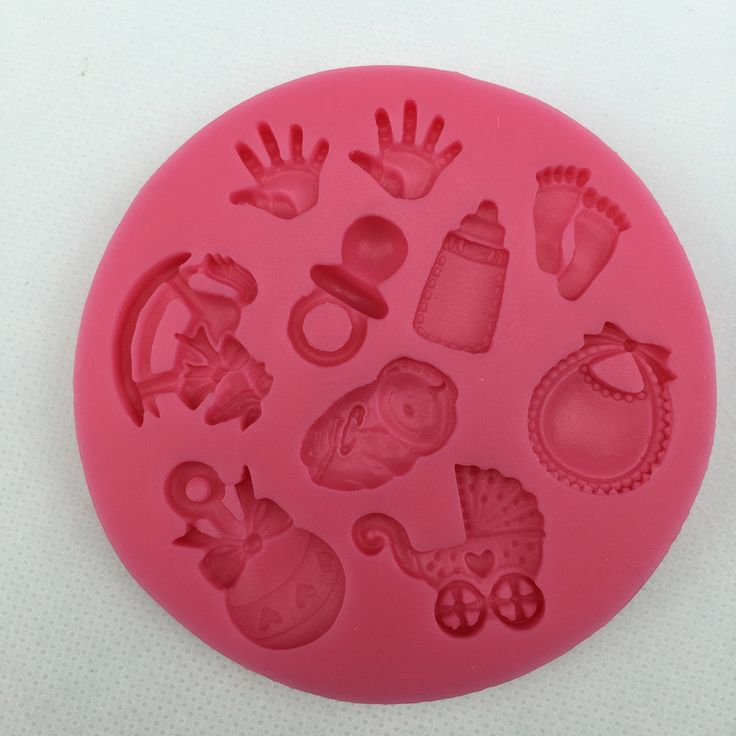 Baby Shower Party stroller hand bottle Trojan silicone mold soap, chocolate fondant cake decoration baking kitchen tool FT-300