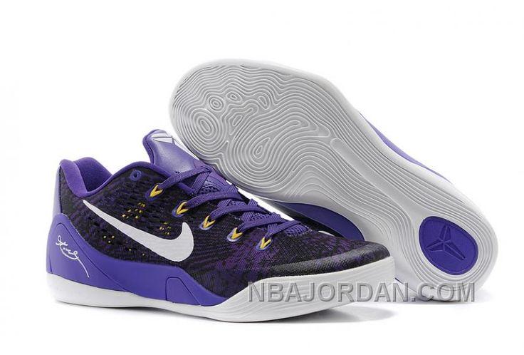Nike Kobe 9 EM Away BlackYellow Elephant Print Grau Schuhe