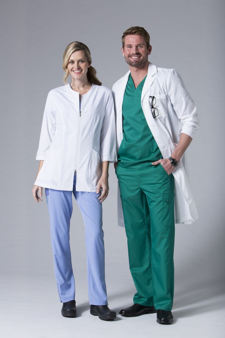 A good lab coat is essential when you work in a hospital, and we've got both guys and girls covered. Our Men's long lab coat provides all the utility of large pockets and side slits, while maintaining a professional appearance, pairing well with any outfit. The ladies Smart jacket redefines the lab coat, by providing a new version of medical fashion and comfortable, lightweight fabrics. #labcoats #scrublife #maevnscrubs #medical