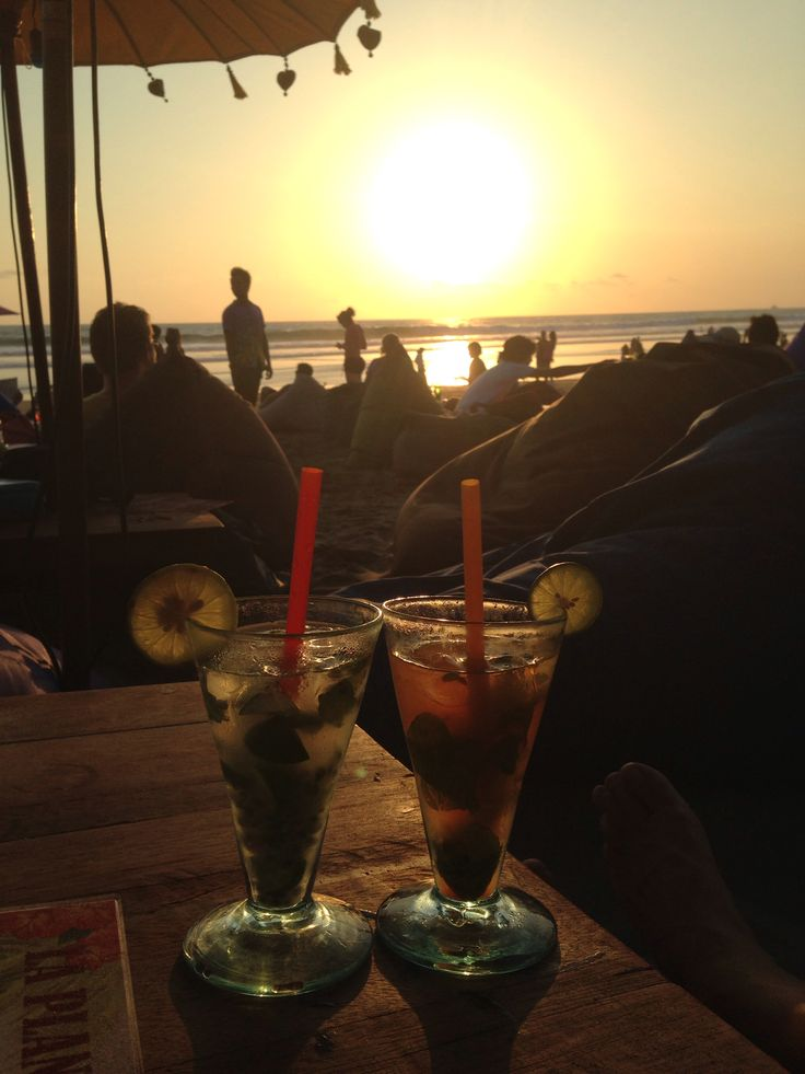 Sunset cocktails #bali