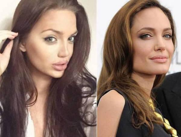 Angelina Jolie has a twin, and her name is Chelsea Marr : theCHIVE