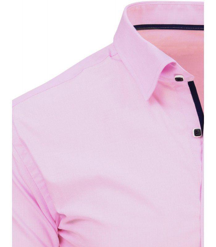 63783a3ac5b6 Ružová pánska košeľa s dlhými rukávmi