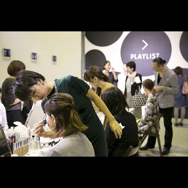 イベント会場には、コレクションのバックステージをイメージしたスペースを用意。 #playlist_shiseido #playbeauty #plt #Shiseido#資生堂 #新製品 #プレイリスト #デビュー #イベント #hairmakeup #artist