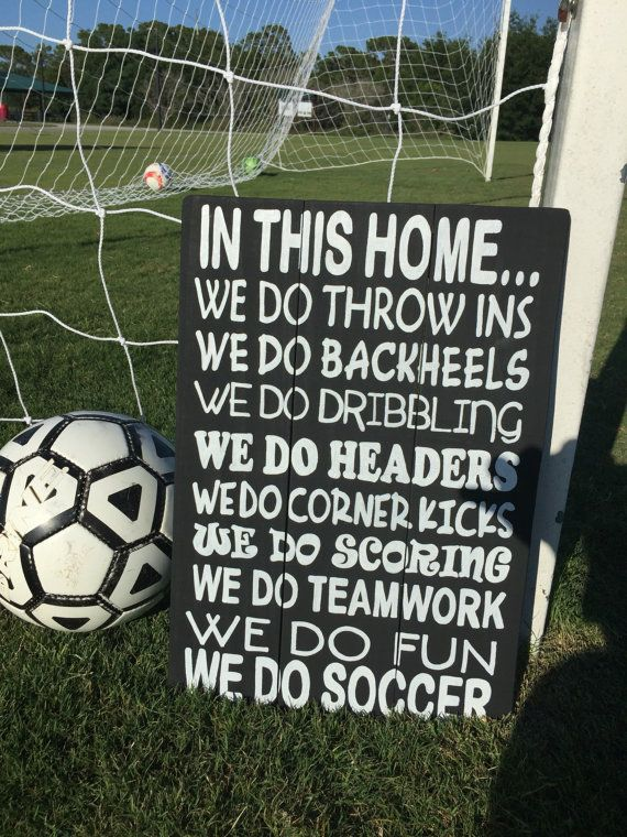 Soccer Sign Sport Sign In This Home Soccer by CountryClutterHome