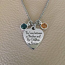 Personalized Mother's Day Necklace with Birthstones for each Child~ You Choose Number of Birthstones