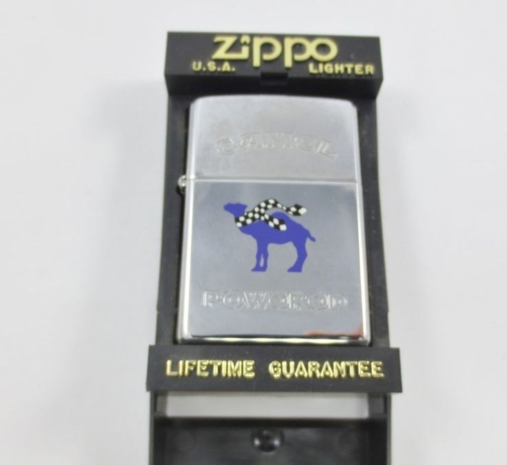 ZIPPO USA CAMEL Cigarette Lighter New Old Stock w Case PURPLE POWERED J XII