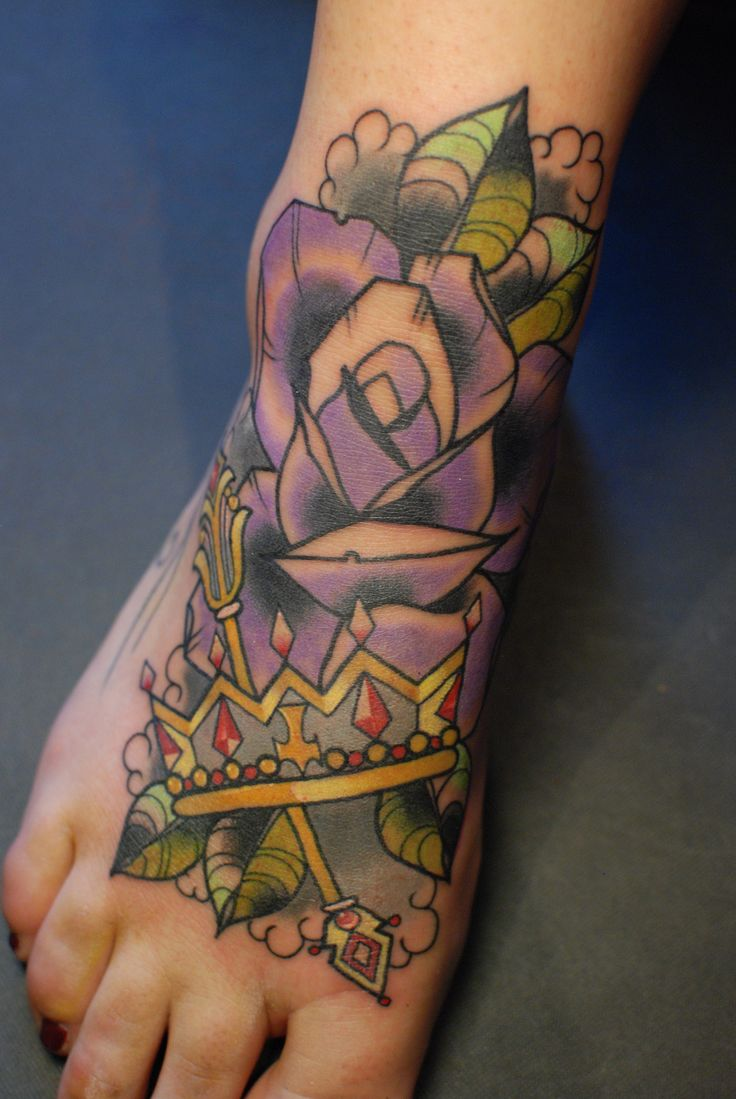 Neo traditional rose with crown and Sceptre from Alex Roze ...