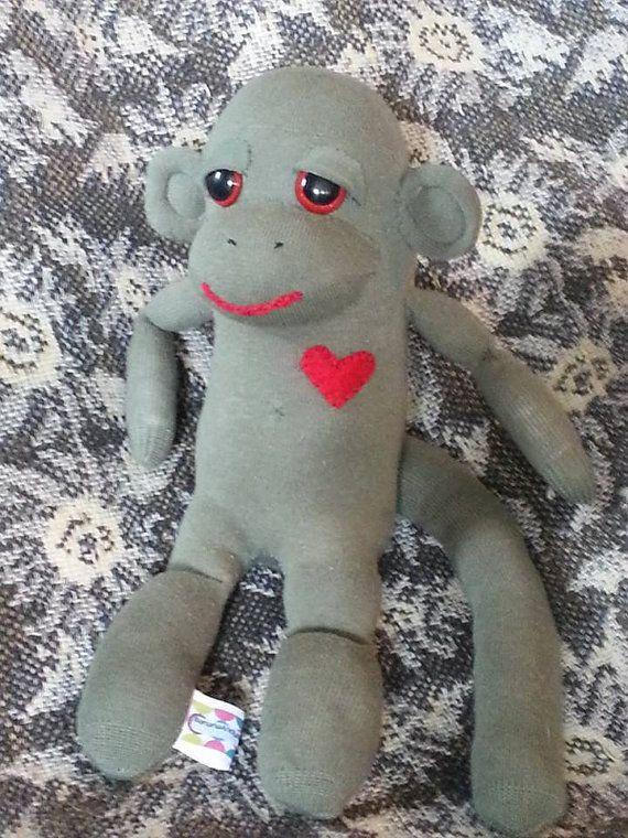 Freen the Lavender Sock Monkey by BananaAndySockMonkey on Etsy, $25.00