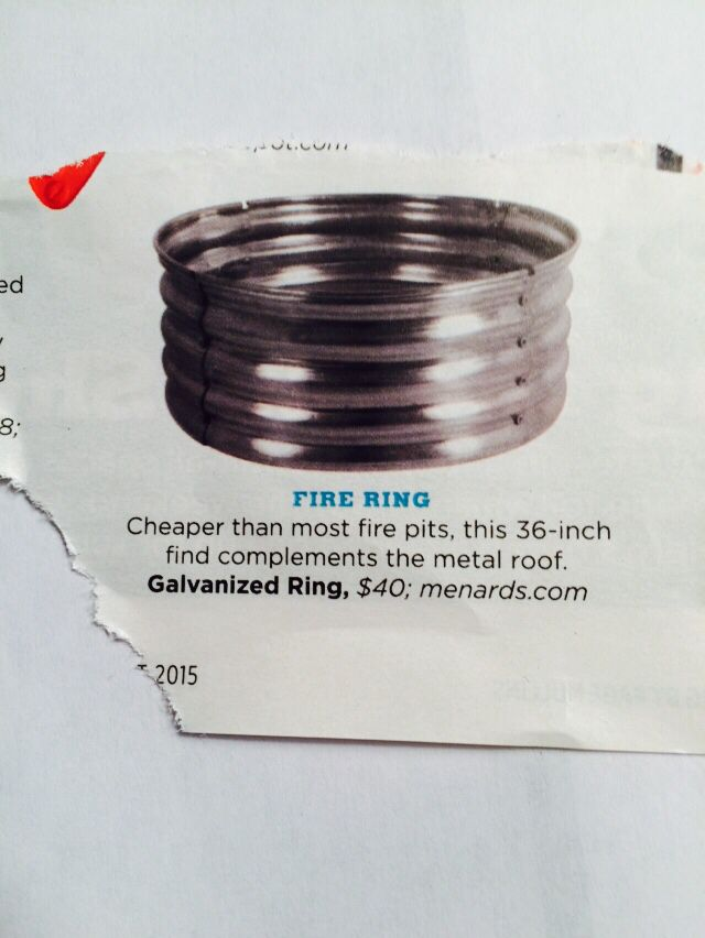 Fire Pit Fire Ring Fire Pit Metal Roof