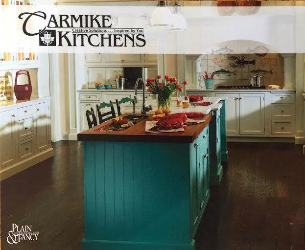 great blue island by plain fancy cabinets kitchen