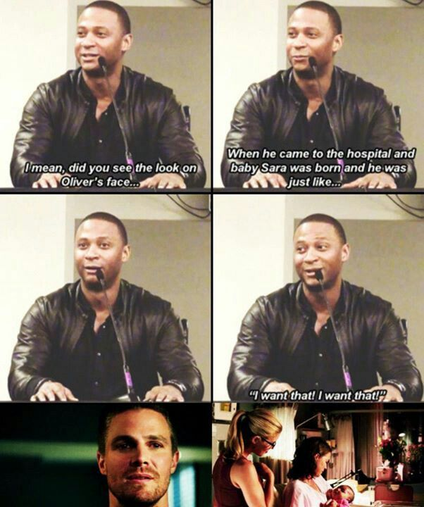 Oliver does want that. And in that moment, a part of him wanted it all to be with Felicity.