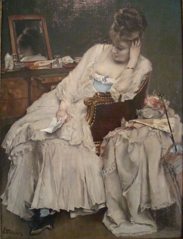 Alfred Stevens - Memories and Regrets