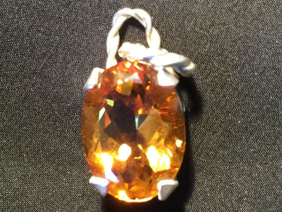 Citrine and fine silver by Belenijewellery on Etsy