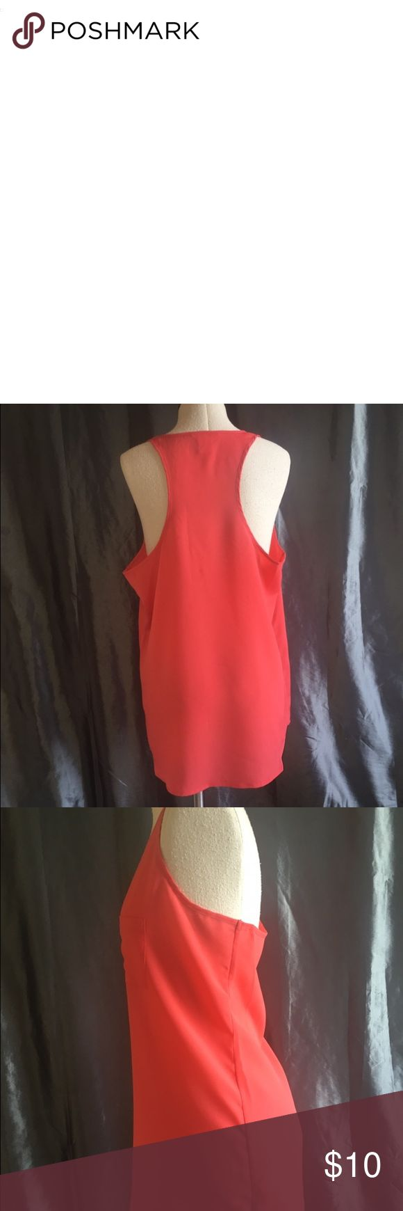 Dressy Joe Fresh Coral Sleeveless Top Size M Dressy Joe Fresh Coral Sleeveless Top Size M 