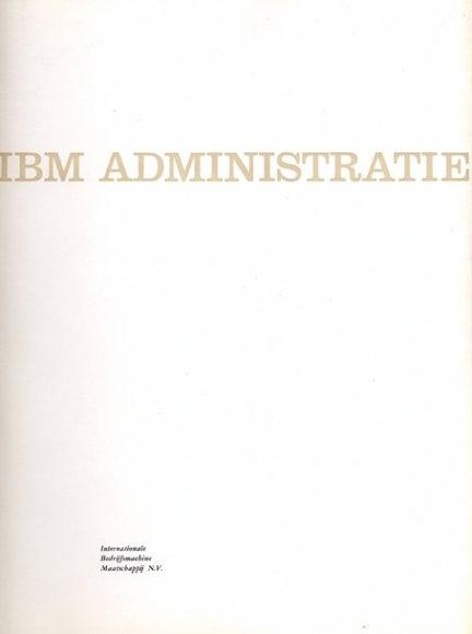 IBM administratie Booklet, IBM, 1957