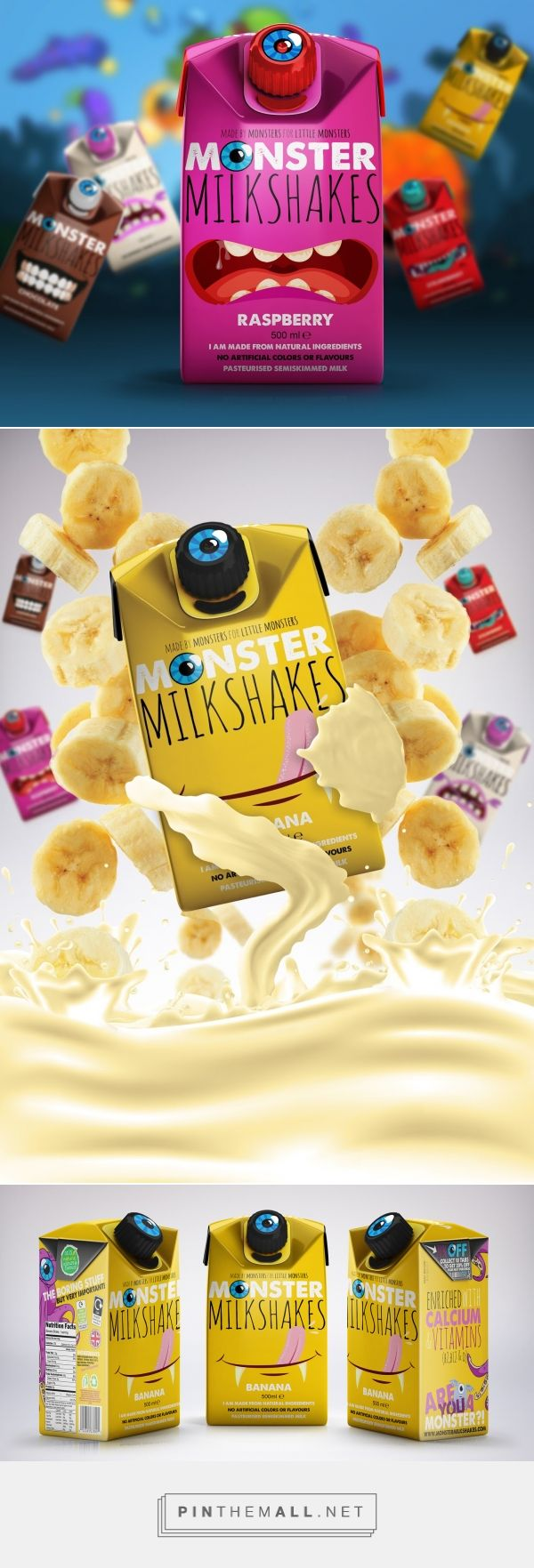#Monster #Milkshakes #packaging #design by Epiphany Media Agency - http://www.packagingoftheworld.com/2017/08/monster-milkshakes.html