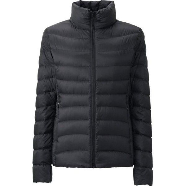 UNIQLO Ultra Light Down Jacket (1,525 MXN) ❤ liked on Polyvore featuring outerwear, jackets, uniqlo, lightweight jackets, high collar jacket, lined jacket and lightweight down jacket