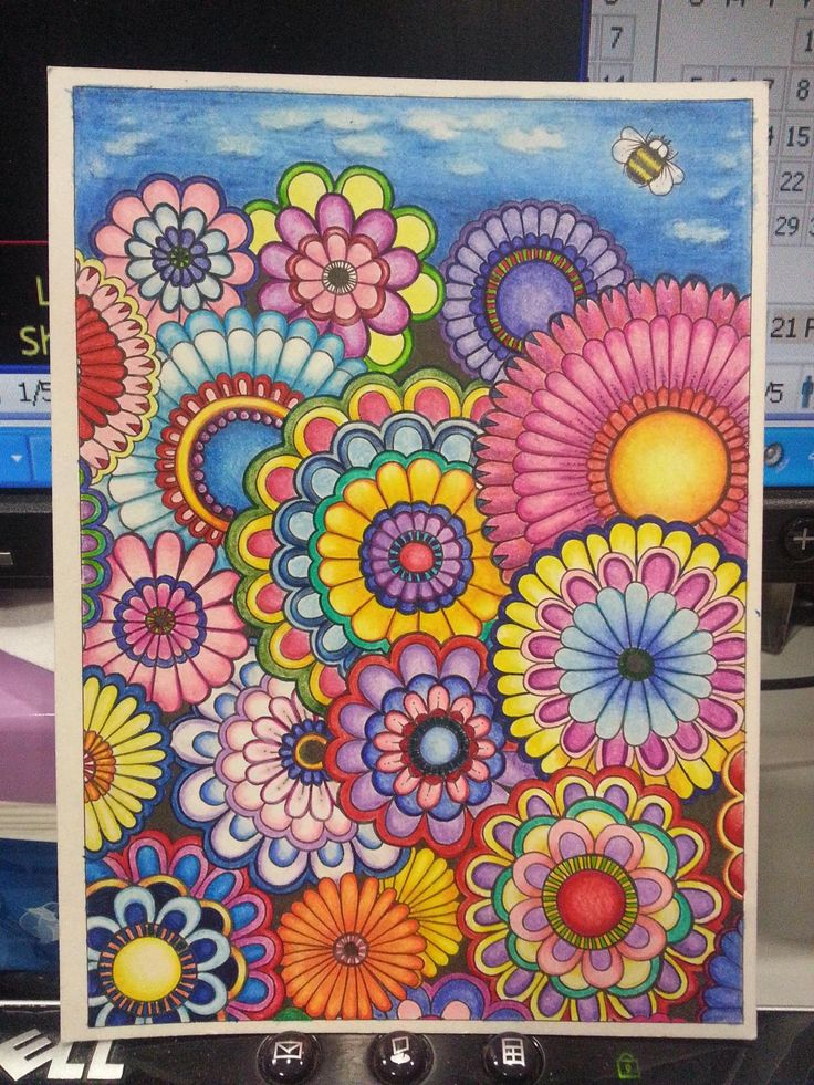 1068 Best Coloring Book Finished Examples Images On