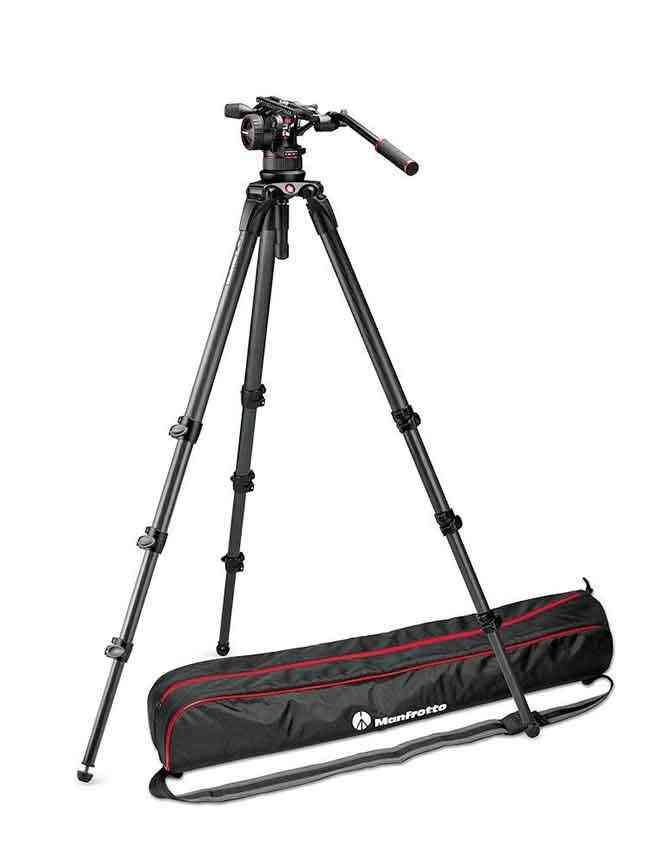 Manfrotto 536 Carbon Fibre Tripod With Nitrotech N12 Fluid Video Head Mvkn12ctall Https Www Tripodworld Com Au Manfrotto 536 C Tripod Carbon Fiber Monopod