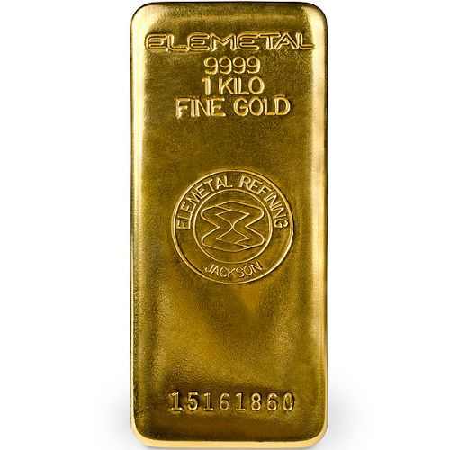 1 Kilo Elemetal Gold Bar New Gold Bullion Gold