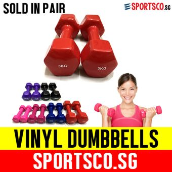 Buy SPORTSCO Mini Vinyl Coated Dumbbell 3KG each - Sold in Pair (Red) (SG) online at Lazada. Discount prices and promotional sale on all. Free Shipping.