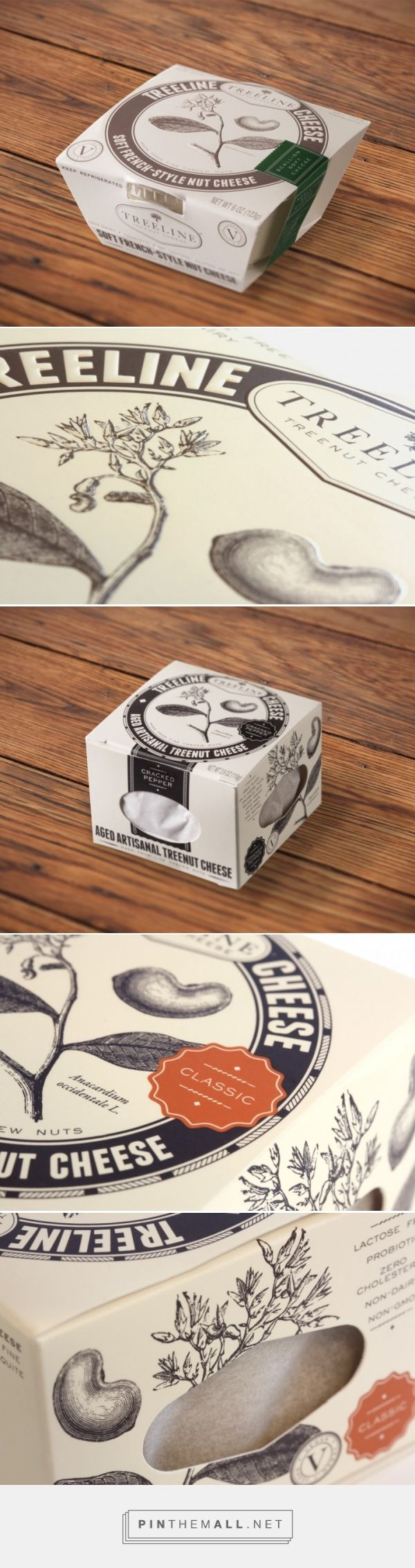 Treeline Treenut Cheese Packaging & Branding - created via http://pinthemall.net