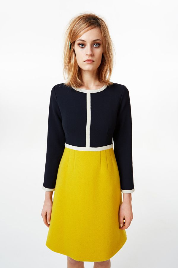 orla kiely fall 2013 by calivintage - bold and figure flattering color blocking