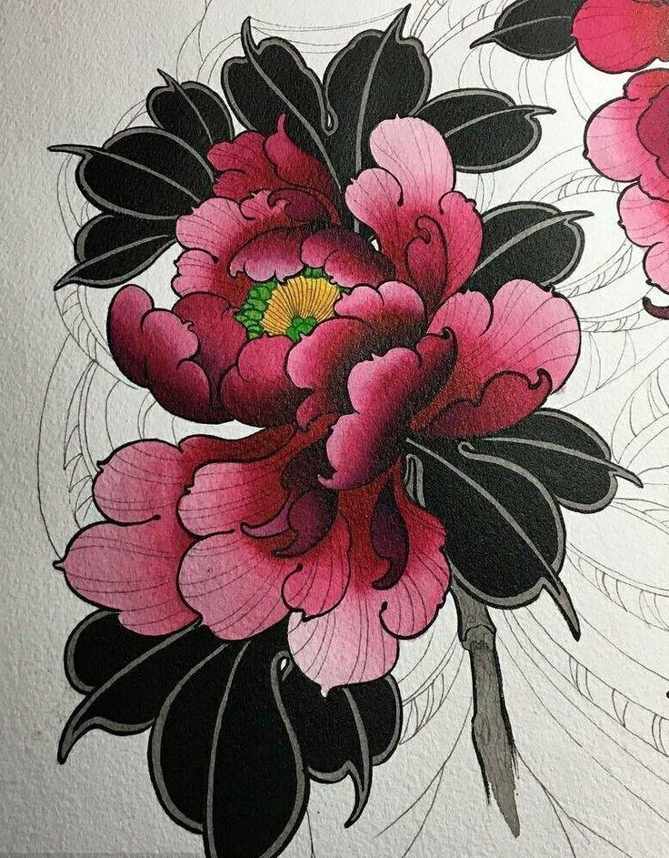 Flower tattoo design • Visit artskillus.ru for more tattoo ideas Back cover #tattoodesign