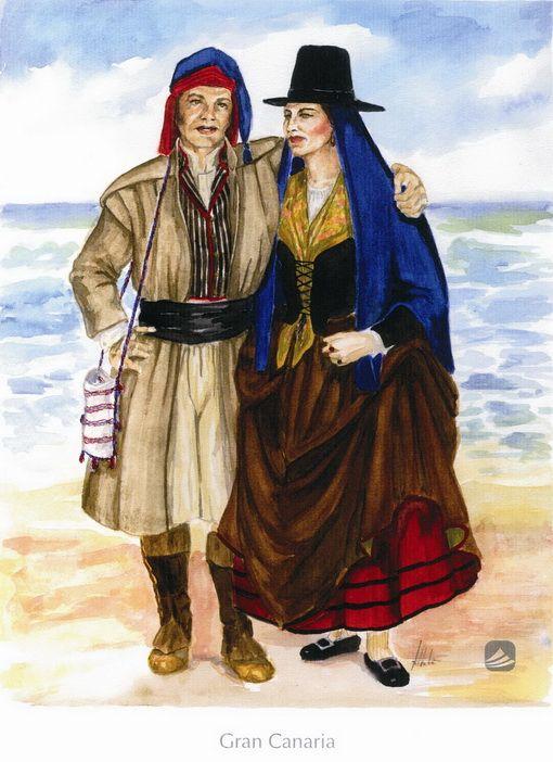 'Gran Canaria'. Trajes de diario. Siglos XVIII y XIX. , BienMesabe.org