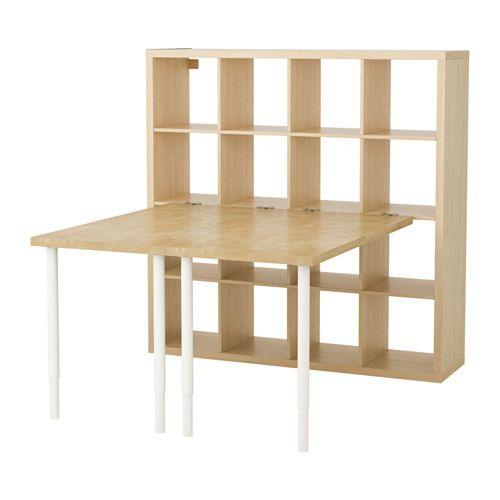 KALLAX Desk combination - birch effect - IKEA