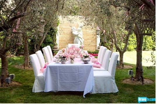 Lisa Vanderpump Home Tea Party Parties And Celebrations