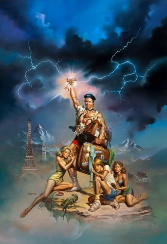 BORIS VALLEJO - art for National Lampoon's European Vacation - 1985