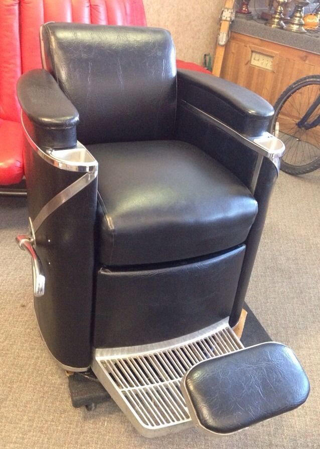 1958 Vintage Koken President Barber Chair with Headrest We Freight | eBay - 80 Best Barber Chair Images On Pinterest Bow, 1950s And Colors