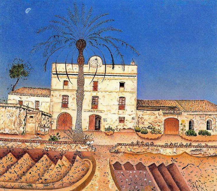 Joan Miró - Casa con palmera, 1918