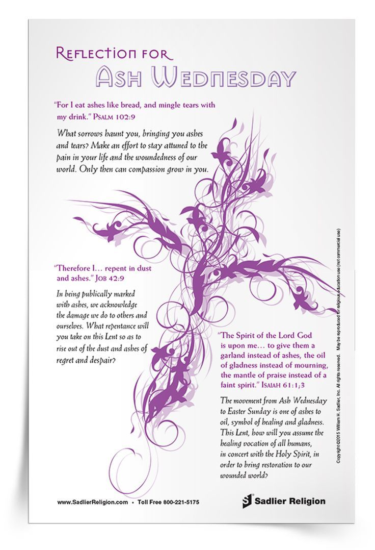 Reflection for Ash Wednesday | Celebrate Ash Wednesday with a reflection on the themes of both repentance and healing. Download the reflection and share it with your family or class.