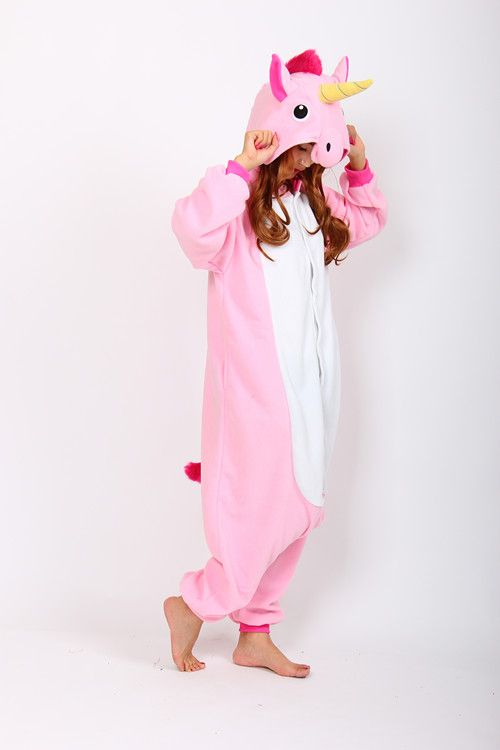 cheap Pink Unicorn Kigurumi animal onesies