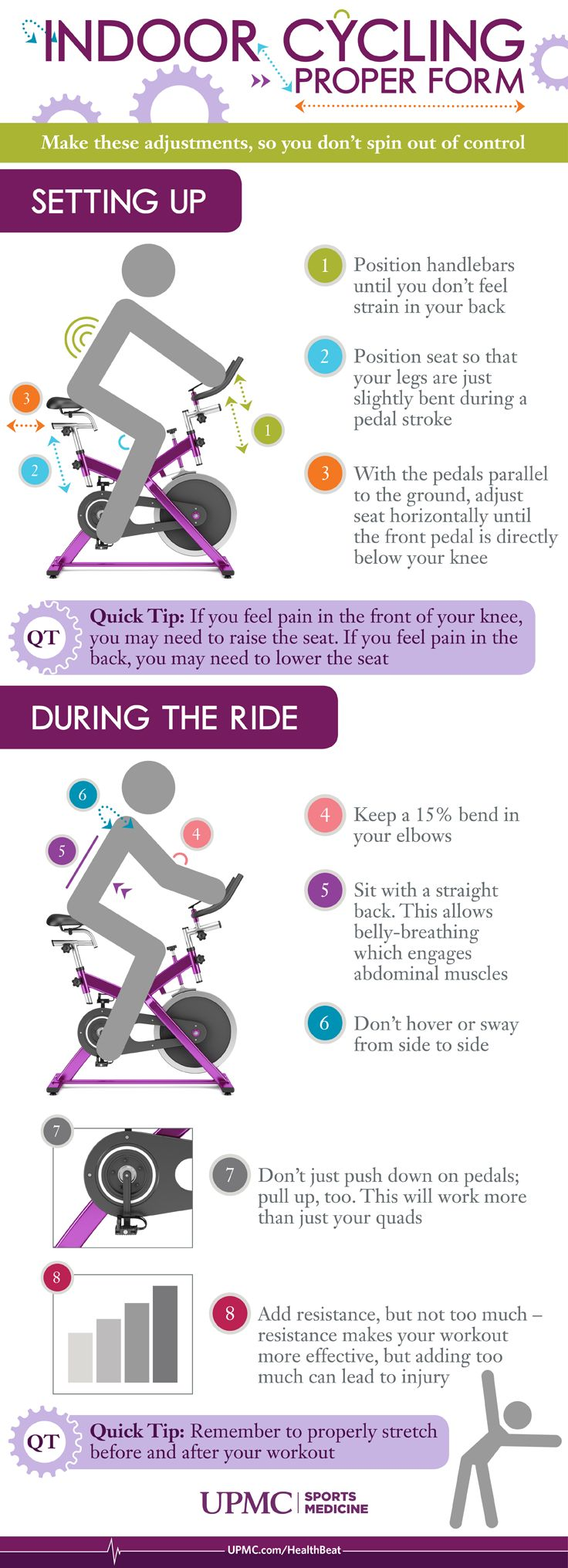 Learn how to set up your indoor cycling bike and maintain proper form during class.